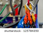 rigging equipment on a hook and ... | Shutterstock . vector #125784350