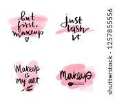 set makeup fashion logo.... | Shutterstock .eps vector #1257855556