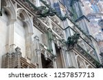 close up view of stone old... | Shutterstock . vector #1257857713