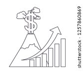 dollar symbol with bar graph... | Shutterstock .eps vector #1257860869