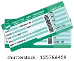 two boarding passes. green and... | Shutterstock .eps vector #125786459