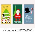 vector illustration of winter... | Shutterstock .eps vector #1257865966
