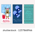 merry christmas and happy new... | Shutterstock .eps vector #1257868966