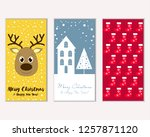 vector illustration of merry... | Shutterstock .eps vector #1257871120