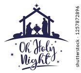 birth of christ  silhouette of... | Shutterstock .eps vector #1257872896