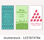 merry christmas and happy new... | Shutterstock .eps vector #1257874786
