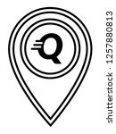 letter q and map pin. logo...