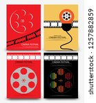 set of abstract movie and film... | Shutterstock .eps vector #1257882859