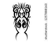 tribal pattern tattoo  vector   Shutterstock .eps vector #1257888163
