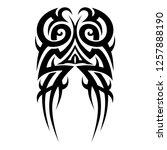 tribal pattern tattoo vector | Shutterstock .eps vector #1257888190
