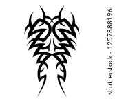 tribal pattern tattoo art vector | Shutterstock .eps vector #1257888196