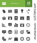 marketing glyph icons | Shutterstock .eps vector #1257891169