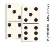 3d vector drawing. domino game... | Shutterstock .eps vector #1257897199