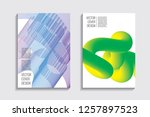 blended covers  gradient wavy... | Shutterstock .eps vector #1257897523
