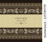 vintage background  elegance... | Shutterstock .eps vector #125789759