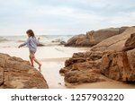 the concept of a beach holiday... | Shutterstock . vector #1257903220