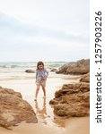 the concept of a beach holiday... | Shutterstock . vector #1257903226