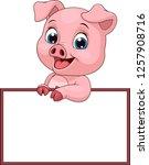 vector illustration  funny... | Shutterstock .eps vector #1257908716