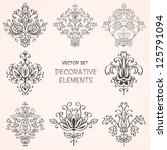 decorative floral elements. can ... | Shutterstock .eps vector #125791094