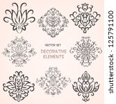 decorative floral elements. can ... | Shutterstock .eps vector #125791100