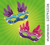 mari gras masks   Shutterstock .eps vector #1257912136