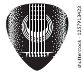 stylish monochrome plectrum for ... | Shutterstock .eps vector #1257913423