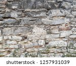 old stone wall texture... | Shutterstock . vector #1257931039