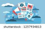 flat adverts vector... | Shutterstock .eps vector #1257934813
