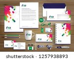 corporate identity business ... | Shutterstock .eps vector #1257938893