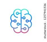 artificial intelligence vector... | Shutterstock .eps vector #1257941536