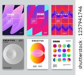modern abstract covers set.... | Shutterstock .eps vector #1257941746