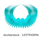 guardian angel wings isolated... | Shutterstock . vector #1257943096