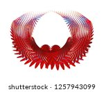 guardian angel wings isolated... | Shutterstock . vector #1257943099