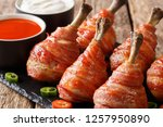 delicious lollipops chicken... | Shutterstock . vector #1257950890