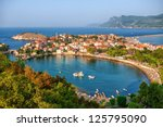 amasra town on the black sea... | Shutterstock . vector #125795090