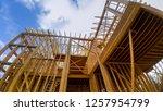 wooden framing of a home  full... | Shutterstock . vector #1257954799