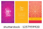 invitation or wedding card with ... | Shutterstock .eps vector #1257959920