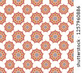 seamless vector pattern with... | Shutterstock .eps vector #1257960886
