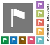 flag flat icons on simple color ... | Shutterstock .eps vector #1257964066