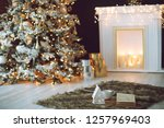 christmas decor in the house   Shutterstock . vector #1257969403