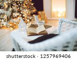christmas decor in the house | Shutterstock . vector #1257969406
