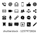 communication set icon vector....