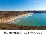 pen hat bay in camaret ...   Shutterstock . vector #1257977026