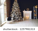 christmas decor in the house | Shutterstock . vector #1257981313