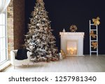 christmas decor in the house | Shutterstock . vector #1257981340