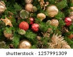 christmas tree background | Shutterstock . vector #1257991309