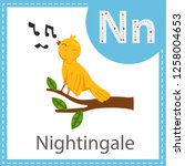 illustrator of nightingale bird | Shutterstock .eps vector #1258004653
