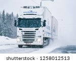 rovaniemi  finland   march 1 ... | Shutterstock . vector #1258012513