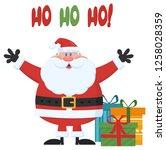 santa claus cartoon mascot... | Shutterstock .eps vector #1258028359