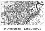 turin italy city map in retro... | Shutterstock .eps vector #1258040923